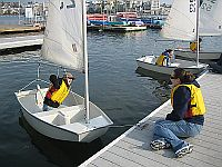 Photo of Child in Sail Boat