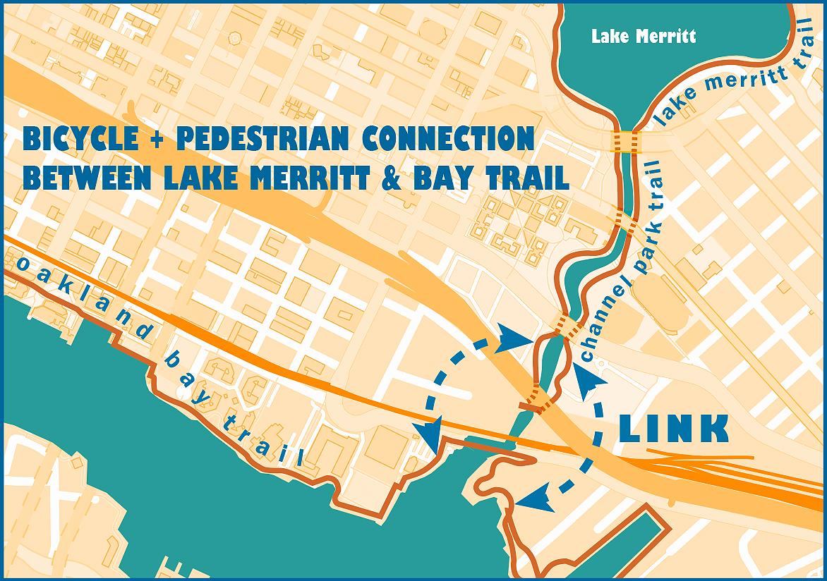 Lake Merritt Trail Map Logo
