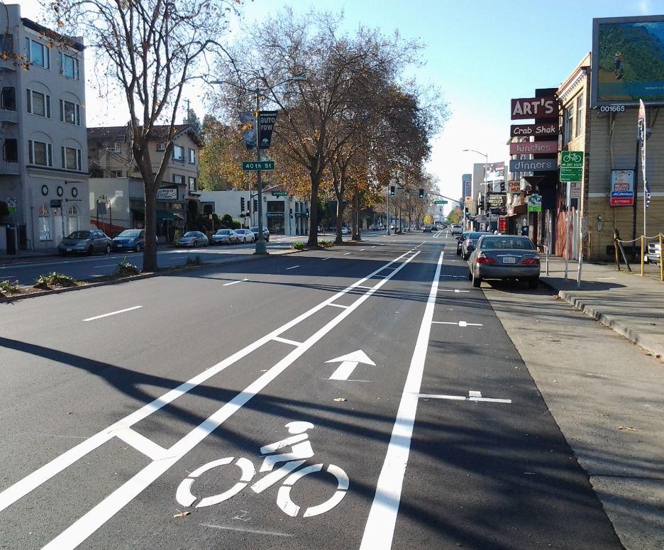 Broadway bike lanes