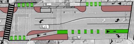 protected bike lane design, Telegraph Ave, Oakland CA